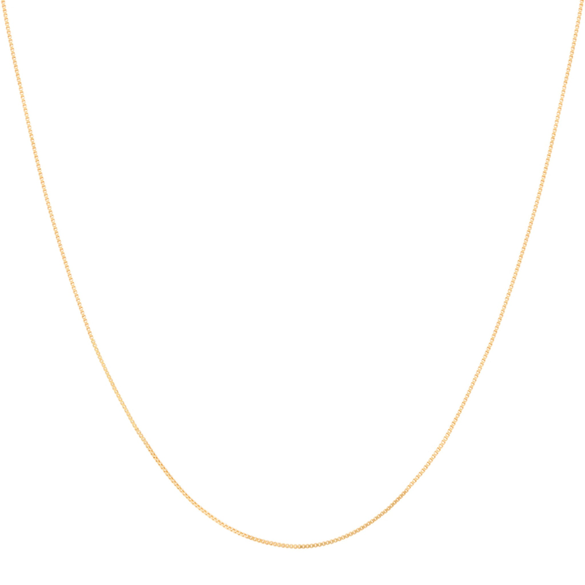 Fine Box Chain 55cm in Gold