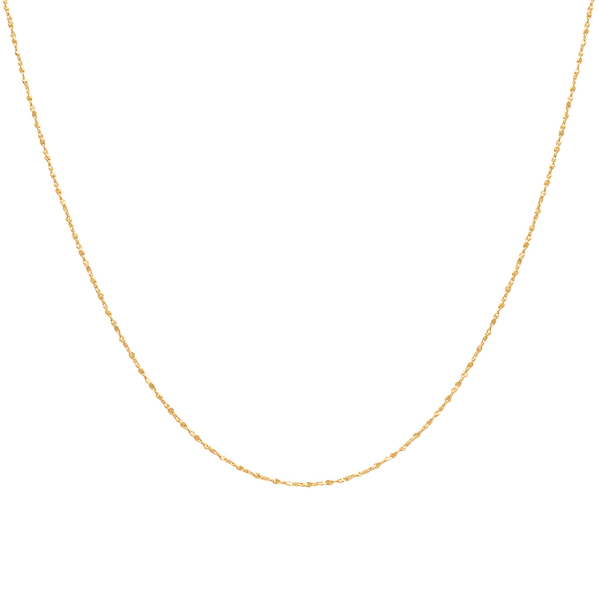 Fine Twist Chain 40cm in Gold