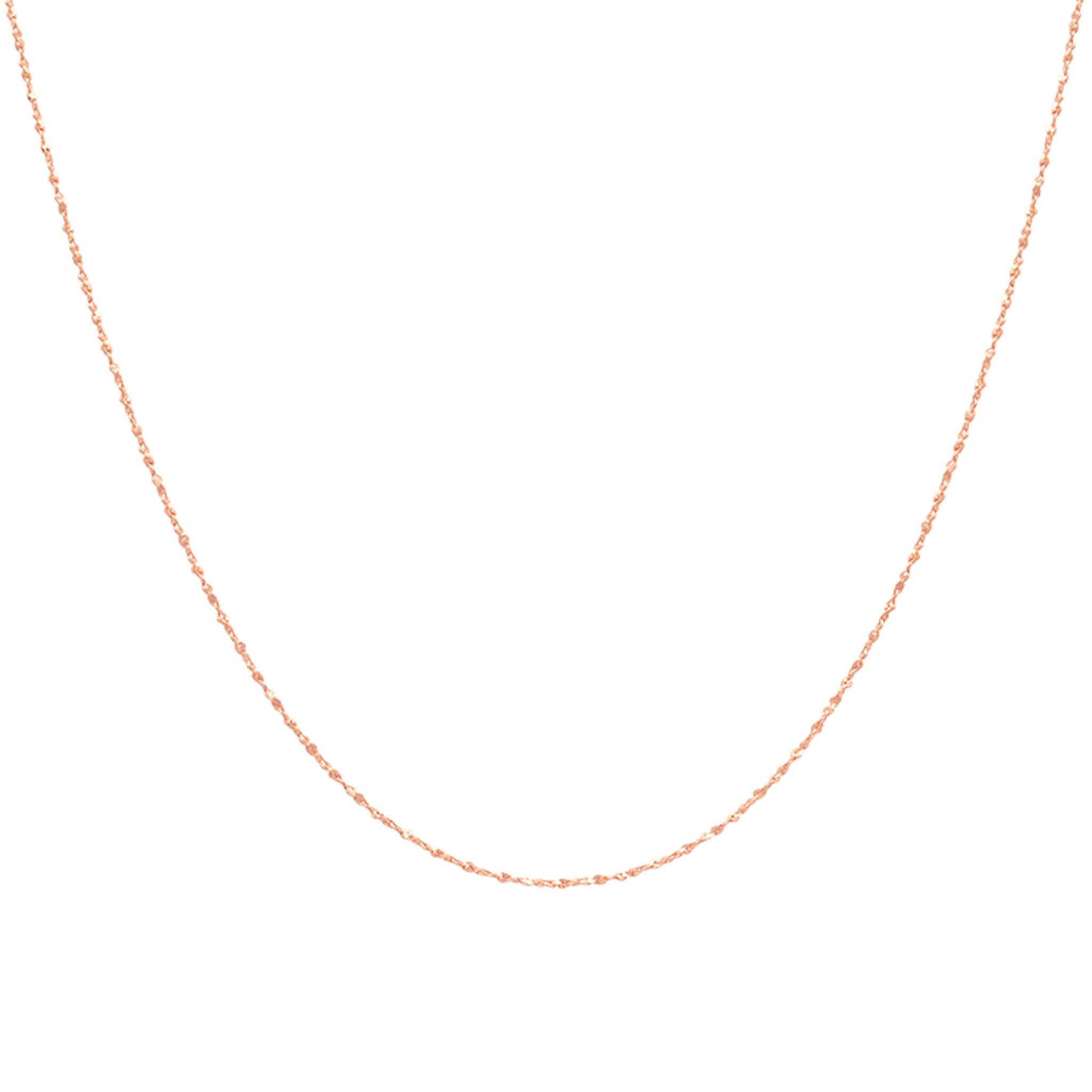 Fine Twist Chain 40cm in Rose Gold