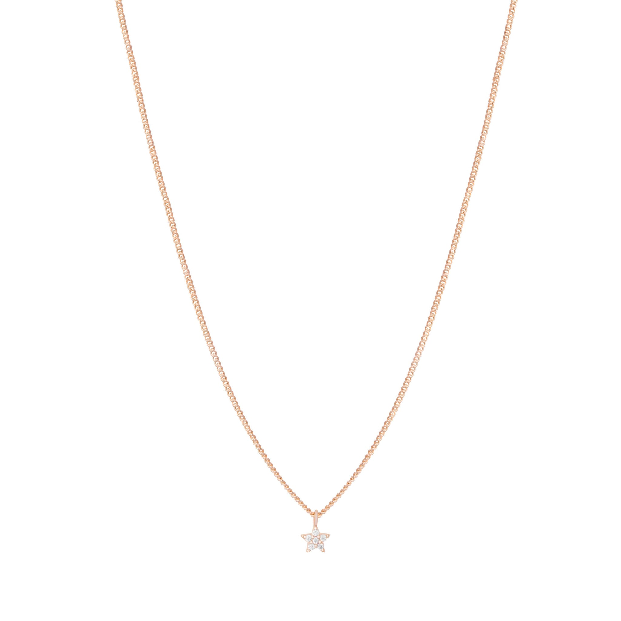 Mystic Star Necklace in Rose Gold