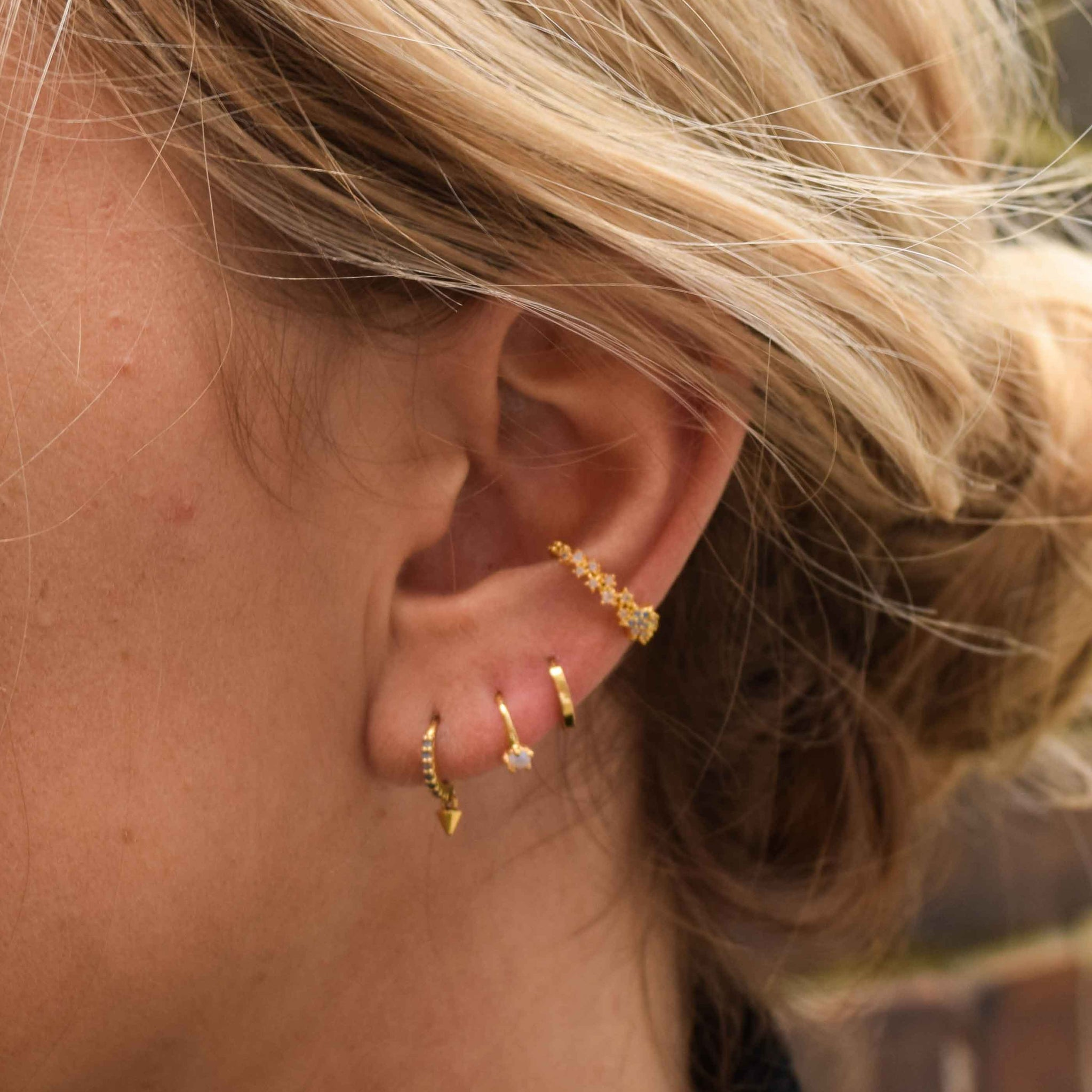 Mystic Star Ear Cuff in Gold
