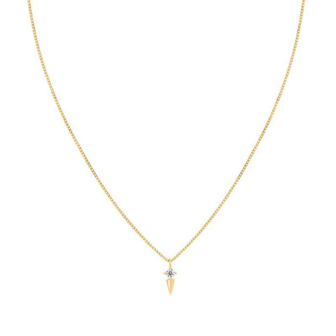 Mystic Spike Necklace in Gold