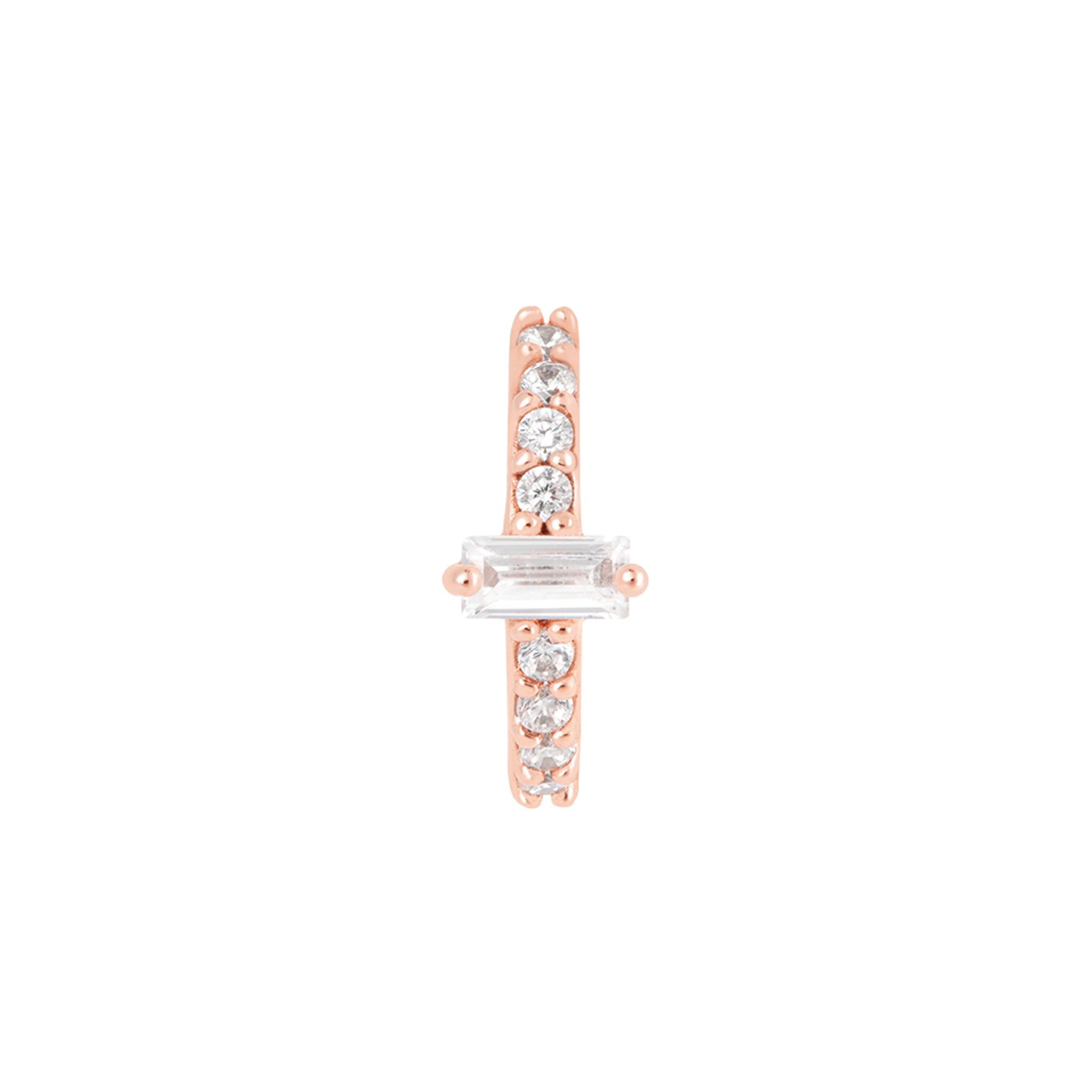 Baguette Gem Clicker in Rose Gold