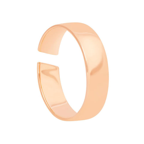 rose gold slim band ring