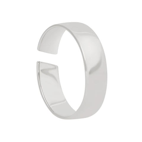 silver slim band ring