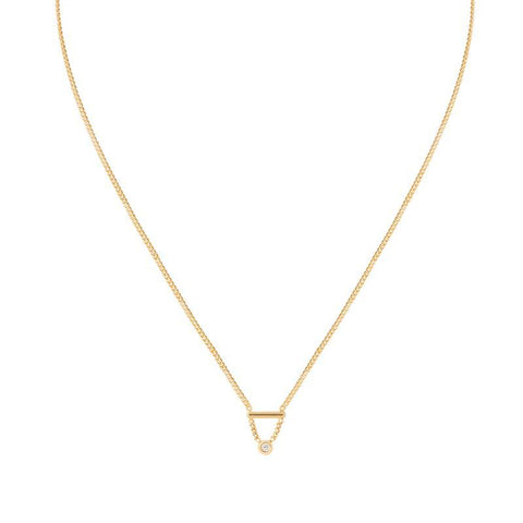 Diamond Bar Necklace in Gold