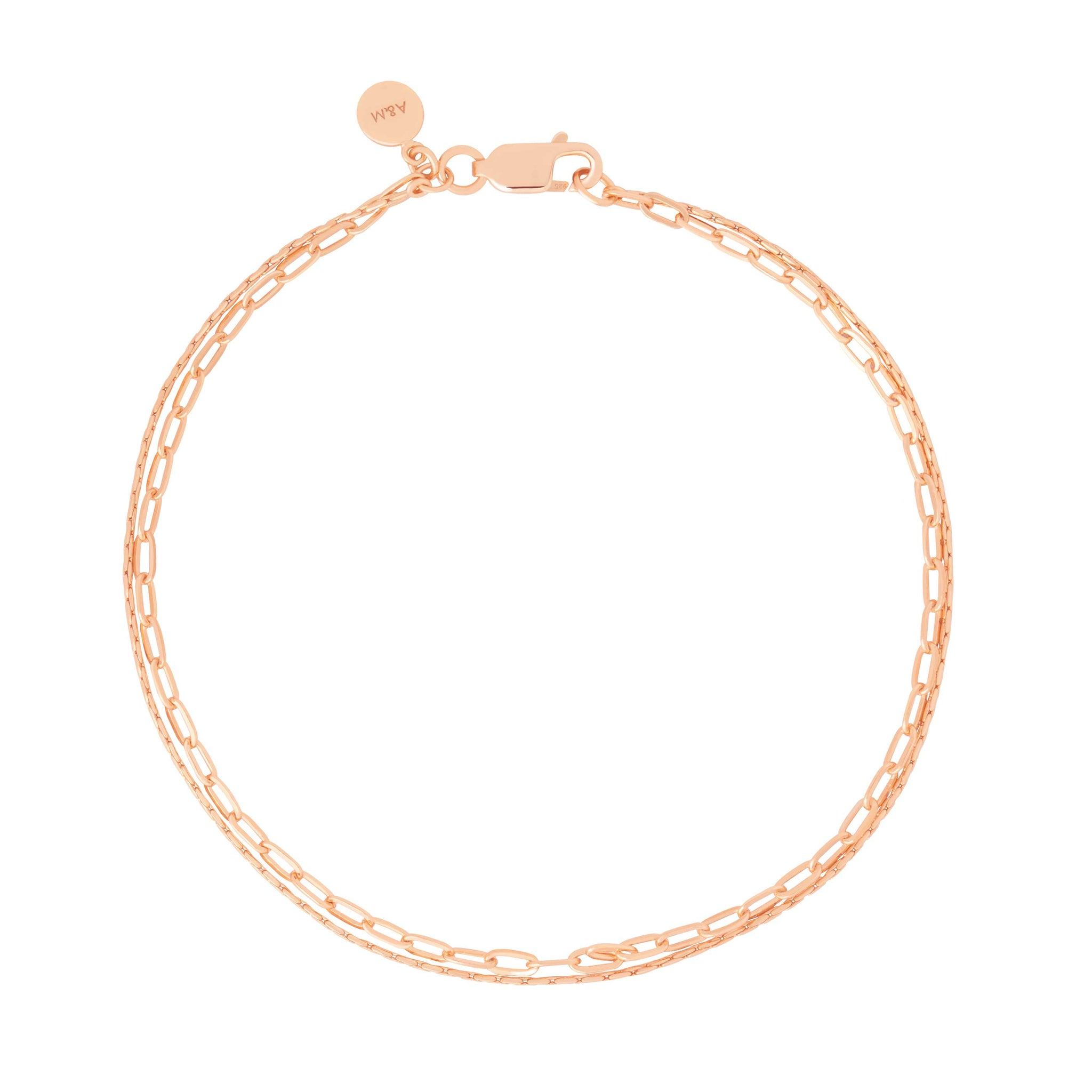 Double Chain Bracelet in Rose Gold