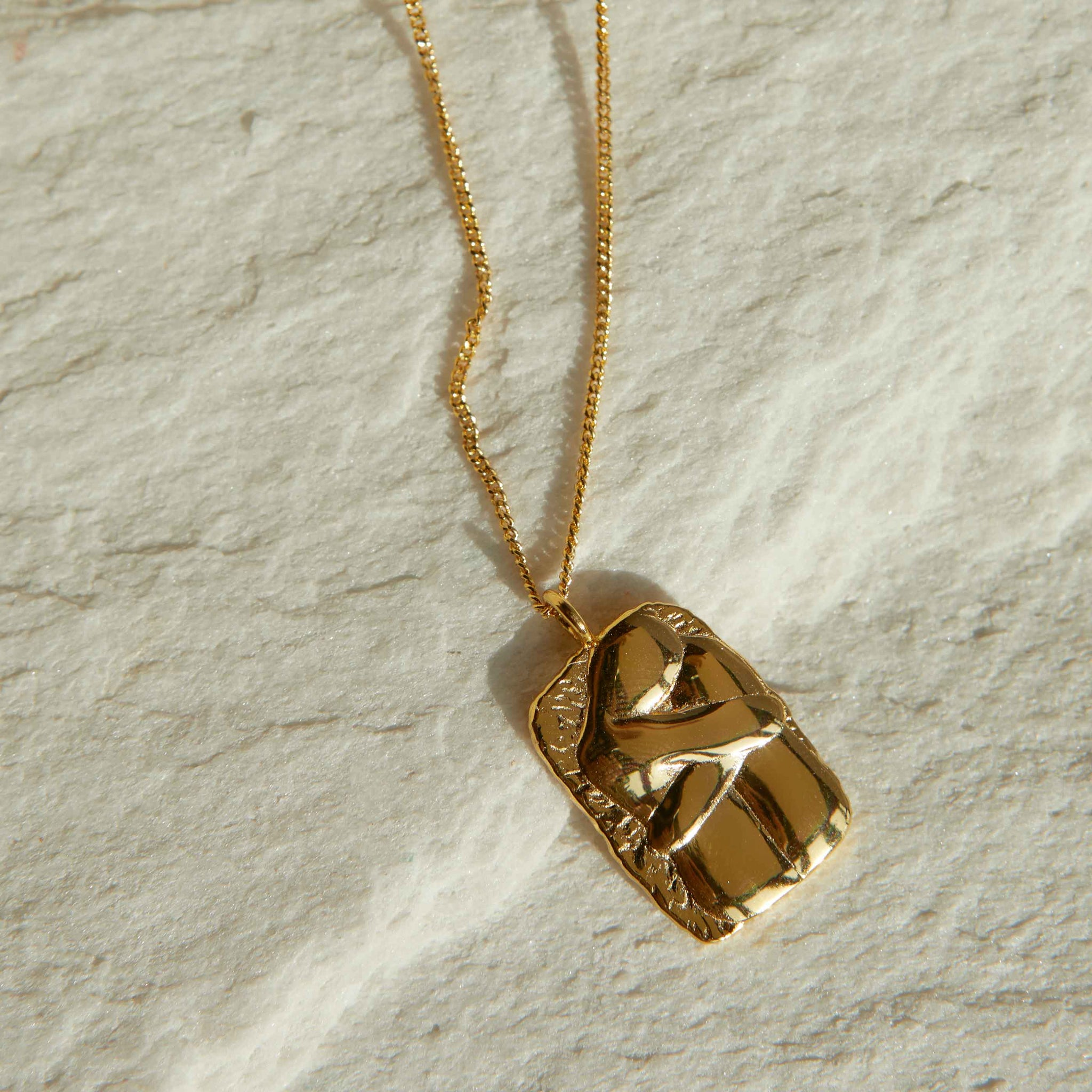 Embrace Pendant Necklace in Gold