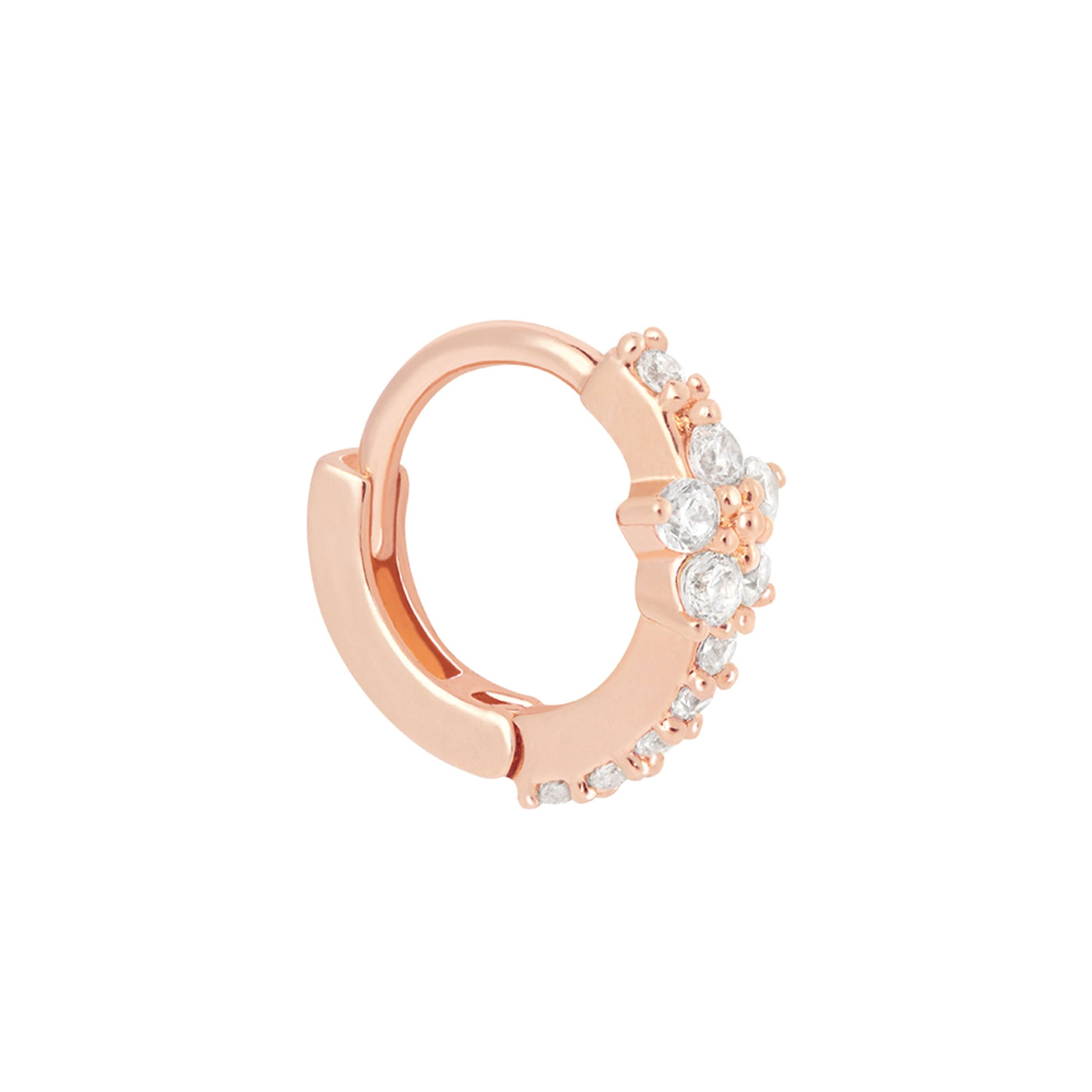 Gem Flower Clicker in Rose Gold