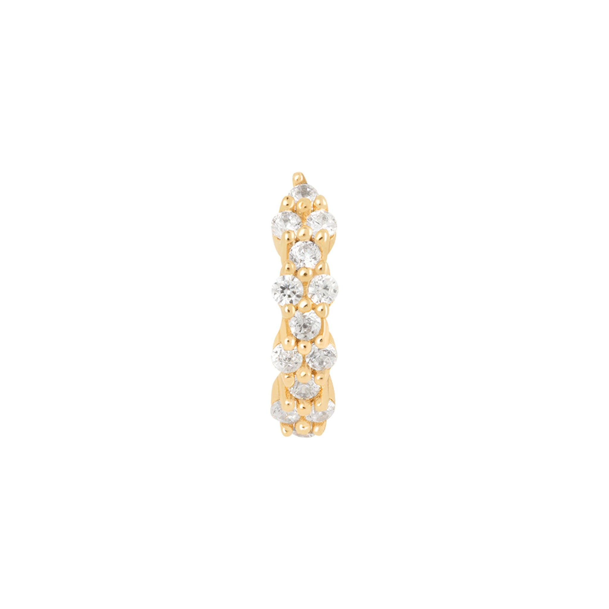 Dainty Crystal Clicker in Gold
