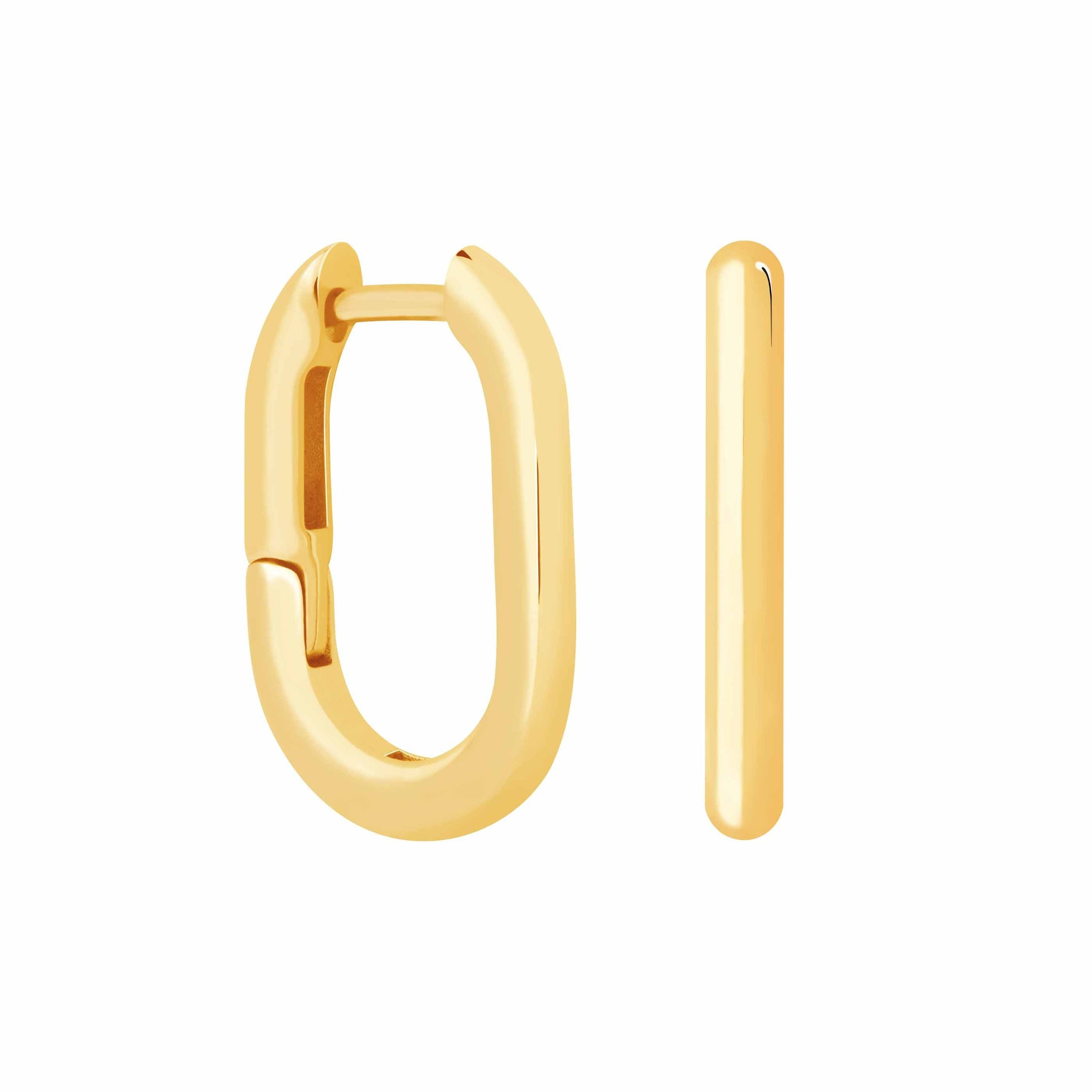 Rectangular Hoops in Gold