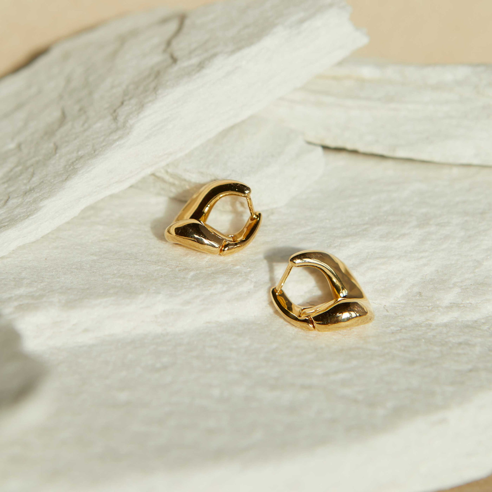 Molten Hoops in Gold
