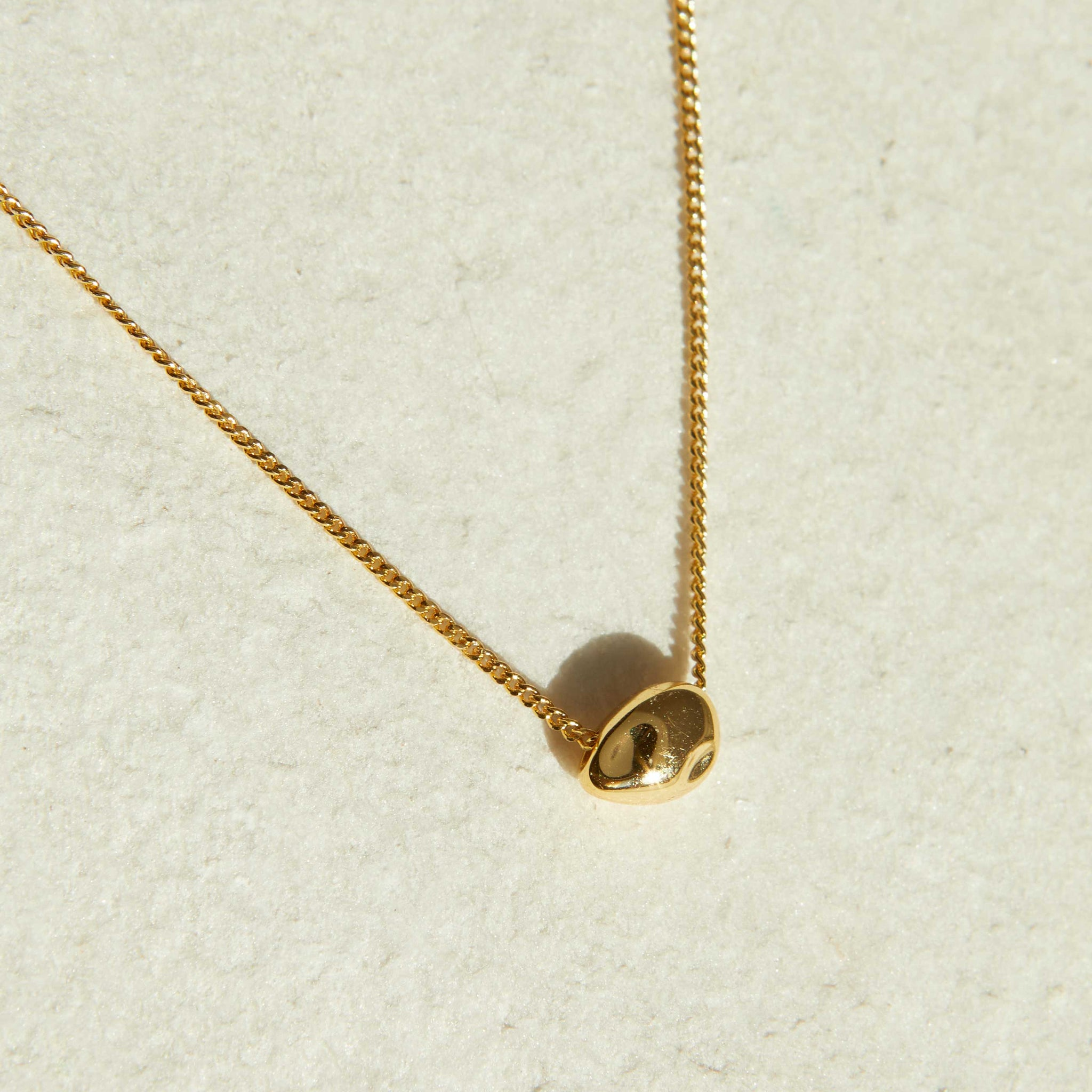 Molten Pendant Necklace in Gold