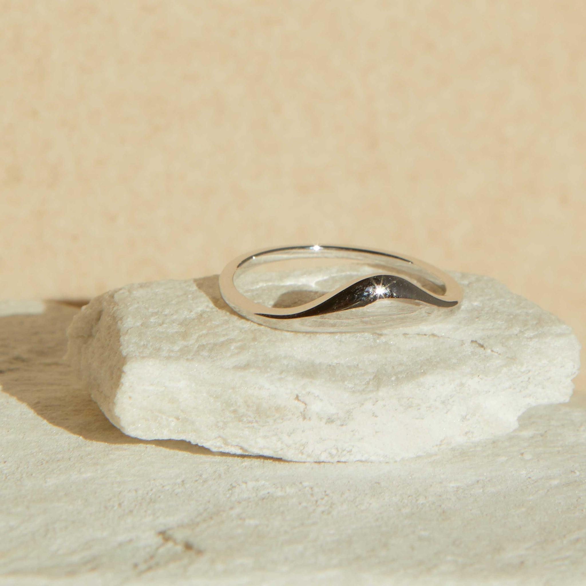 Molten Ring in Silver