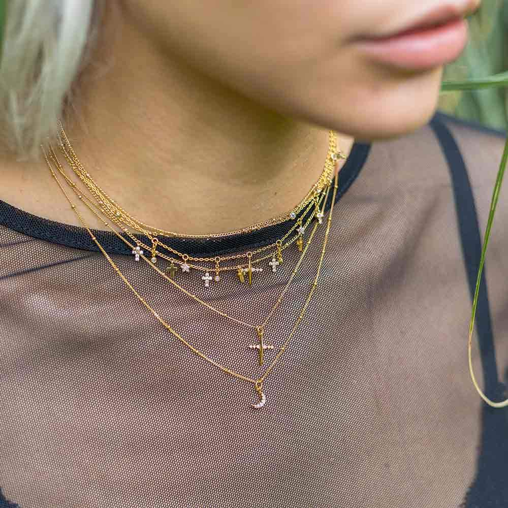 Moon Necklace in Gold