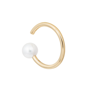 Pearl Asymmetrical Ear Cuff in Gold