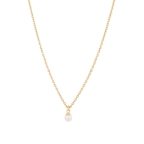 Pearl Pendant Necklace in Gold
