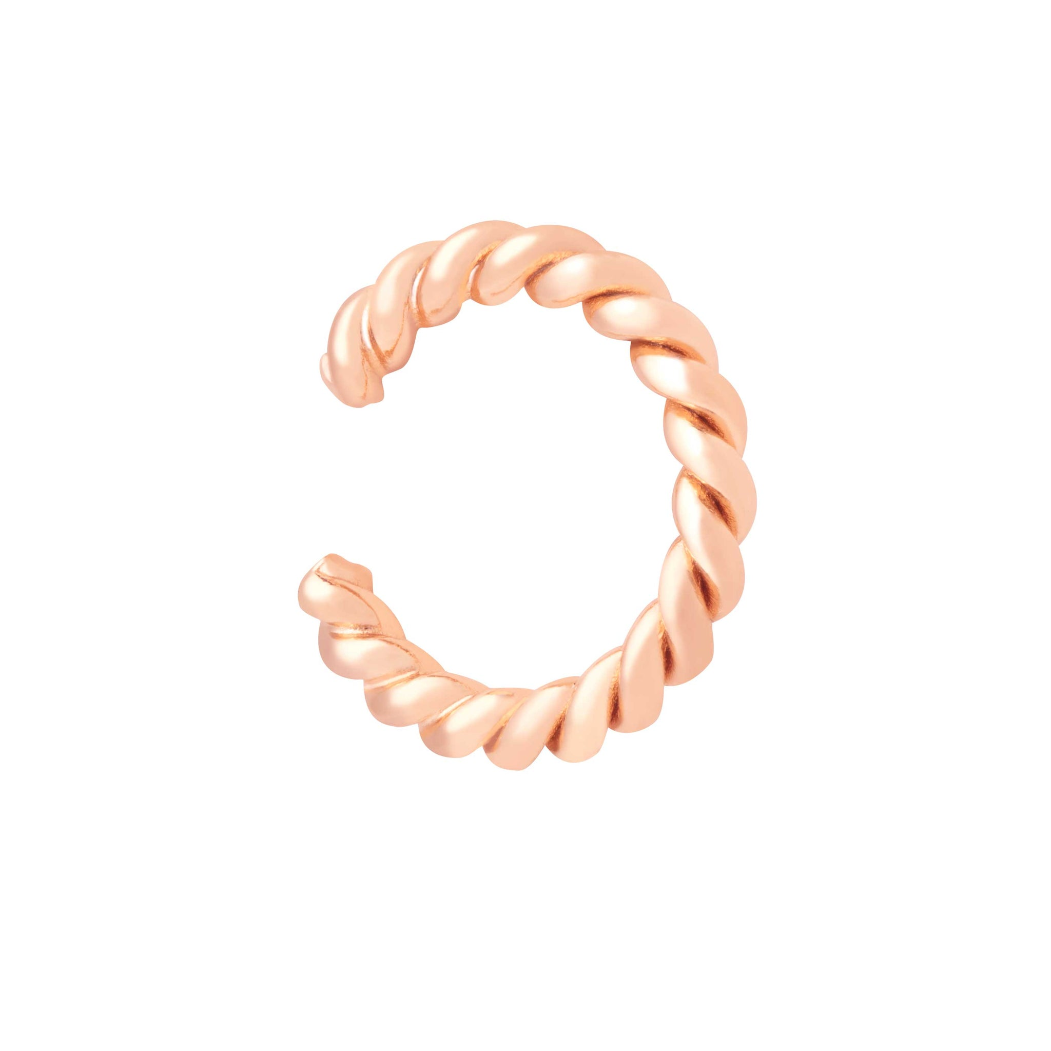 Rope Ear Cuff in Rose Gold
