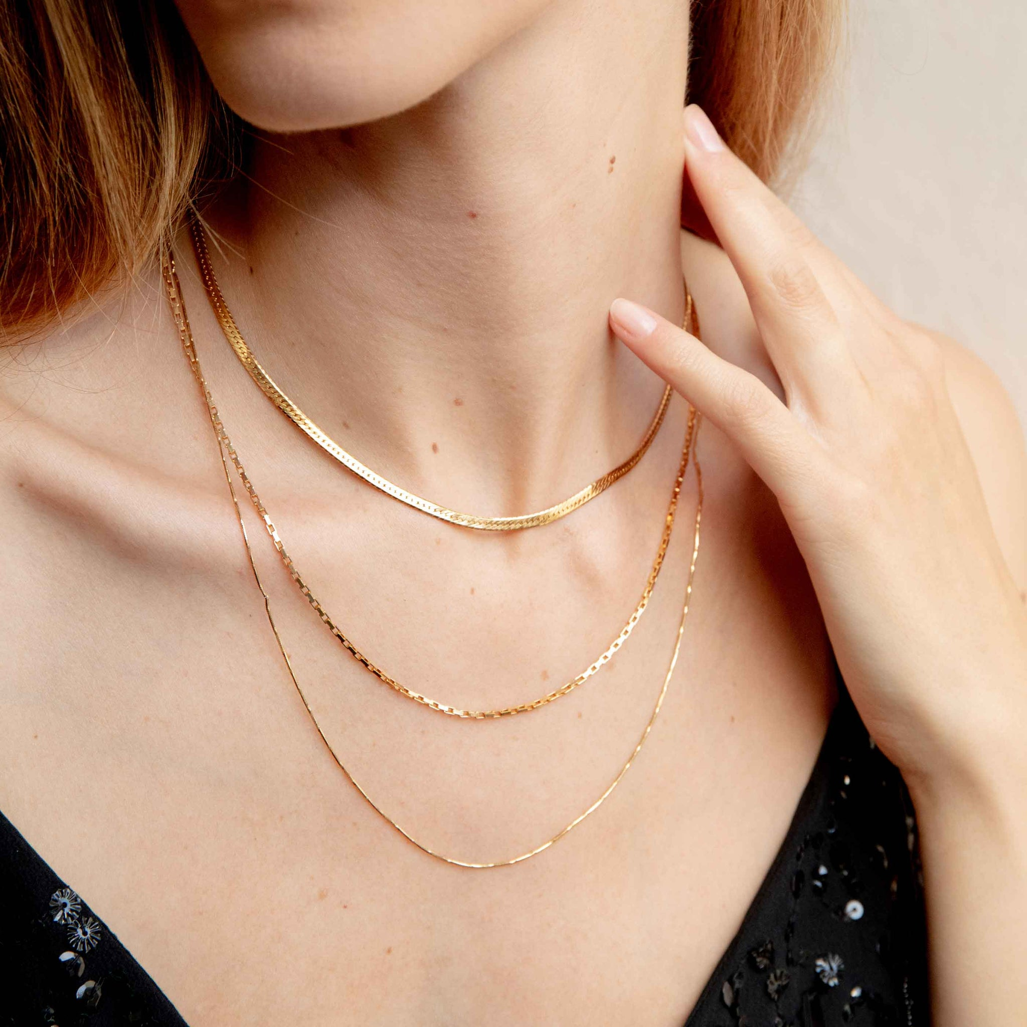 Snake Chain Necklace in Gold