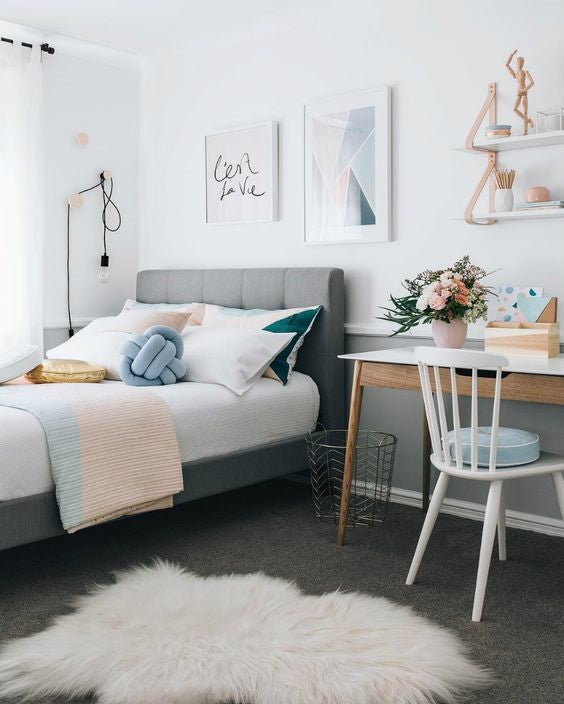 This Beautiful Bedroom Design Comes From Kidsbedroomideas.eu. The Mix Of  Pastel Colours Combined With A Cool Grey Gives This Room A Pretty Twist On  Modern ...