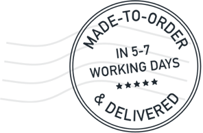 Made to order and delivered in 5-7 working days.
