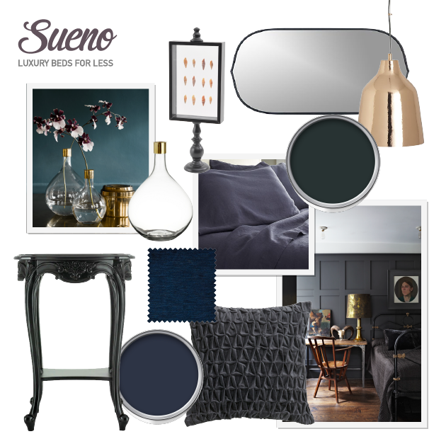 AW14 - Interior Bedroom Trends - Dark and moody shades for walls