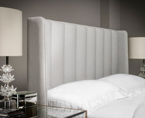 Tubes Winged Upholstered Headboard