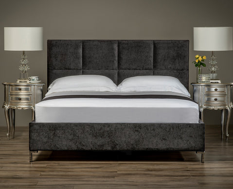Linear Upholstered Bed