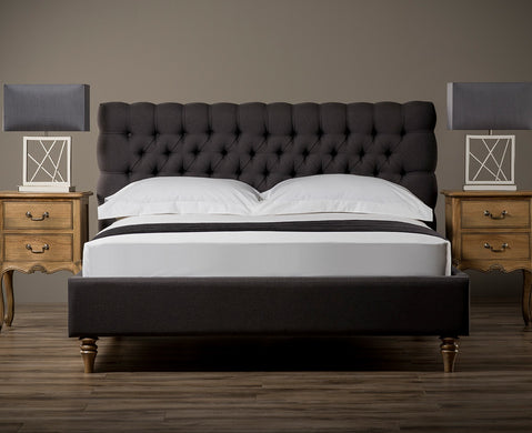 Allure Chesterfield Bed (Upholstered in Grey AC Linen)