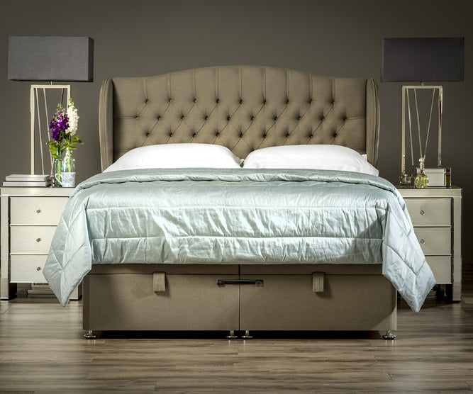 Winged Chesterfield Headboard