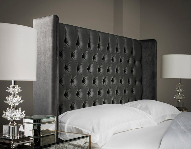 Tall Winged Chesterfield Headboard