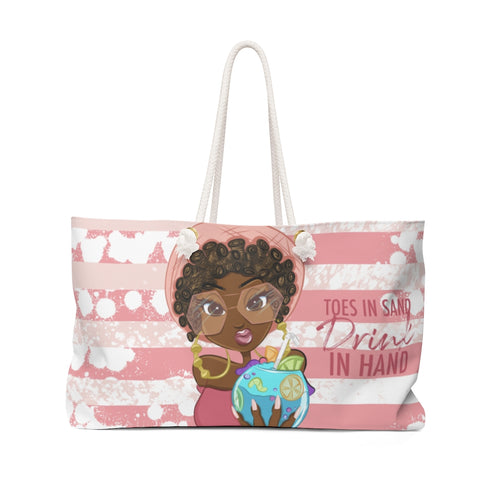 Toes In Sand Beach Bag (PINK)