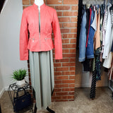 Sage Halter Maxi Dress with Baccini Cayene Jacket
