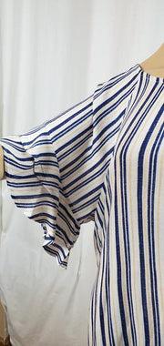Stripe Ruffle Sleeve Tunic