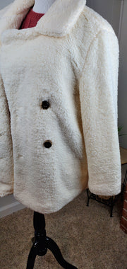 Narla Cream Sherpa Pea Coat