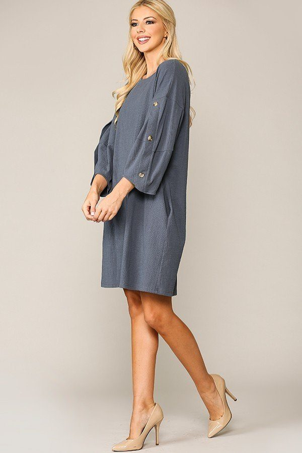 Feelin' Good Shift Dress in Denim