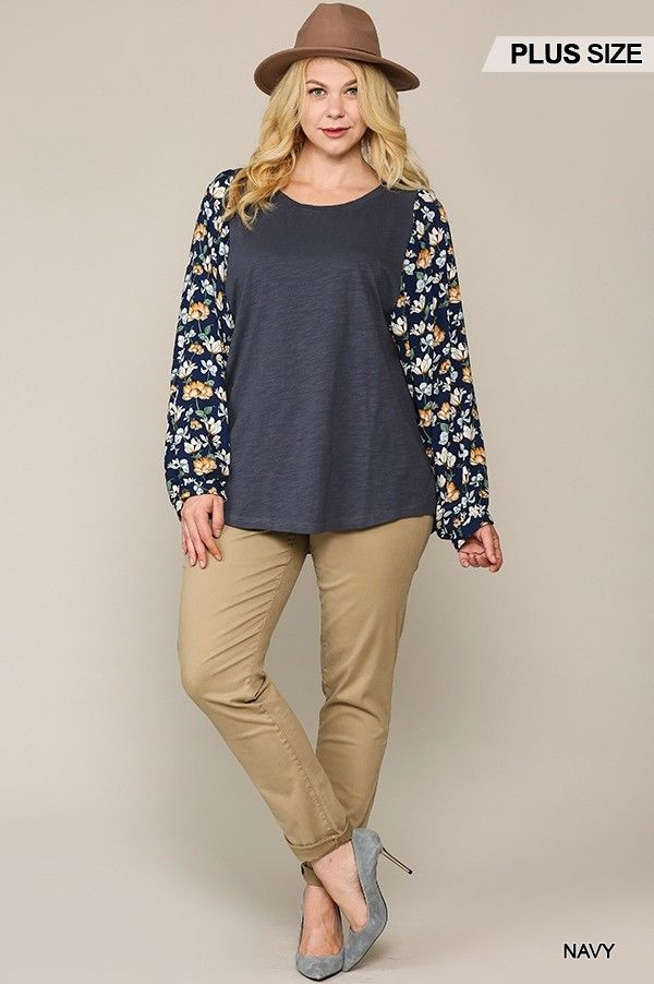 Winter Garden Dolman Sleeves Top