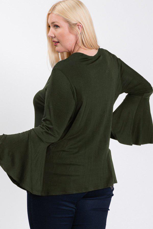 Simply Delightful Bell Sleeve Top