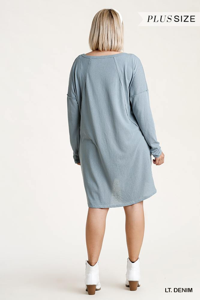 Candice Long Sleeve High-Low Everyday Dress