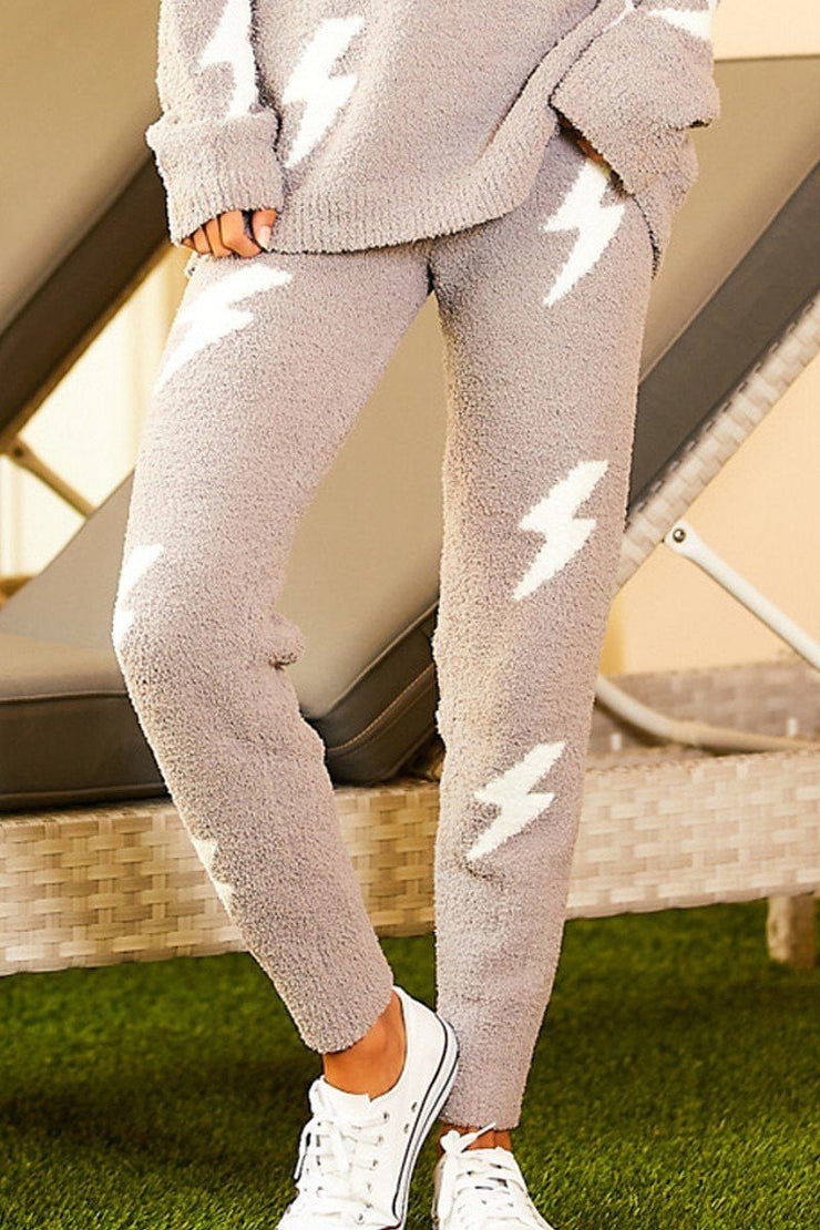 Grey Thunder High Waist Pants