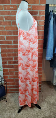 Coral Cloud Long Maxi Dress - side
