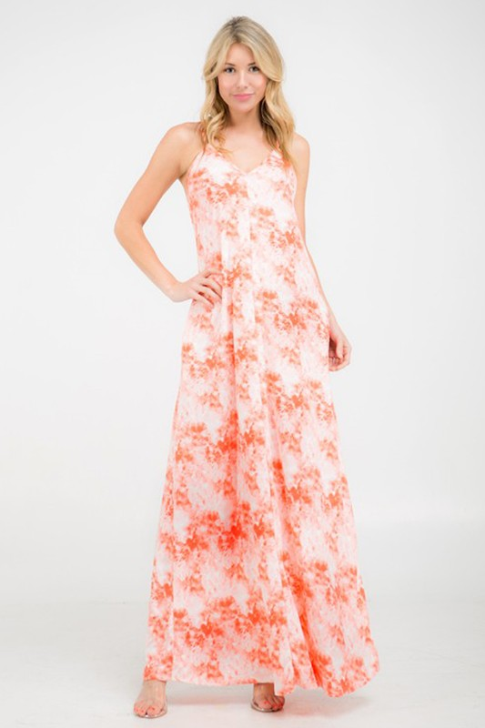 Coral Cloud Long Maxi Dress