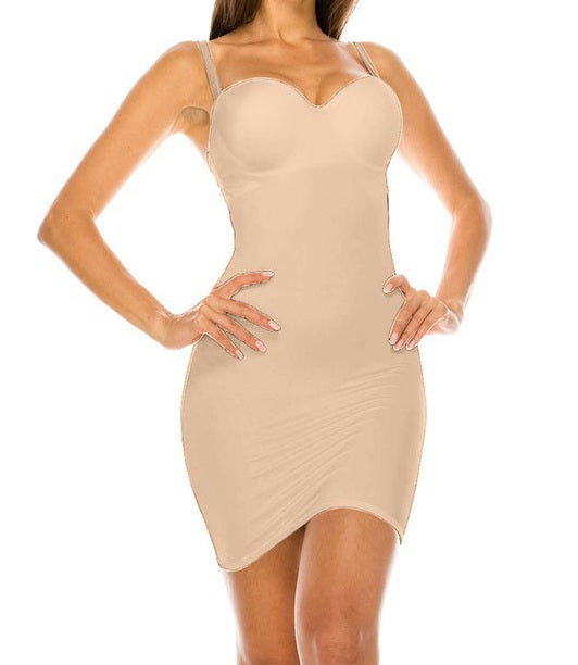 Microfiber Shapewear Dress - Nude