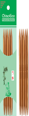ChiaoGoo  6″ (15 cm) Patina bamboo double points