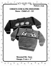 #13 Child's Cow & Pig Sweaters by Melinda Goodfellow