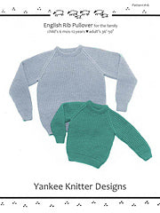 #16 English Rib Pullover for the Family by Melinda Goodfellow