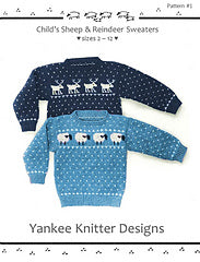 #01 Child's Sheep & Reindeer Sweaters by Melinda Goodfellow