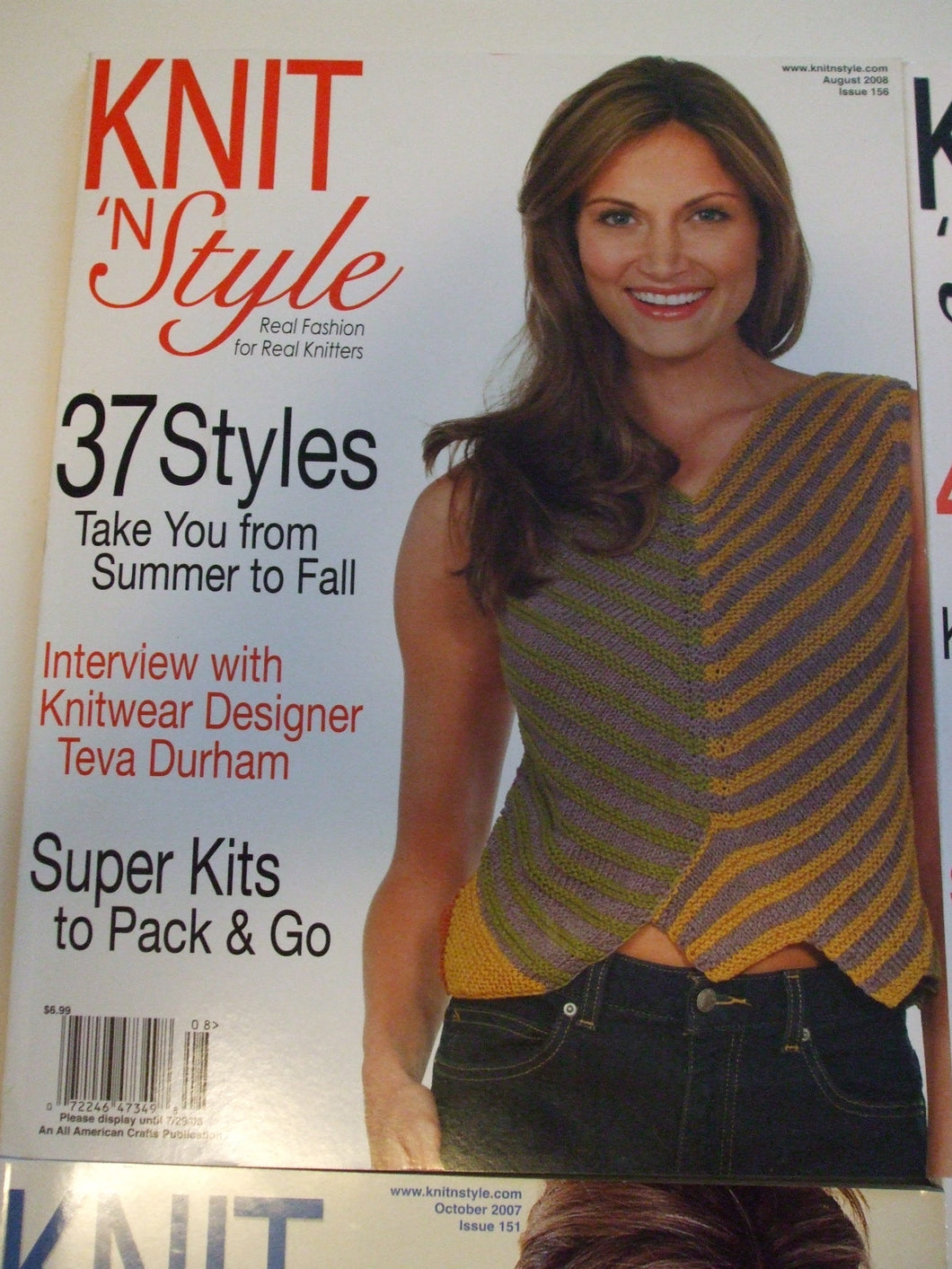 Knit & Style Magazine August 2008   #156