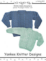 #22 Child's Cable Sweaters by Melinda Goodfellow