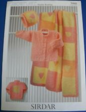 Sirdar Leaflet #3980  Cardigan, Hat and Blanket